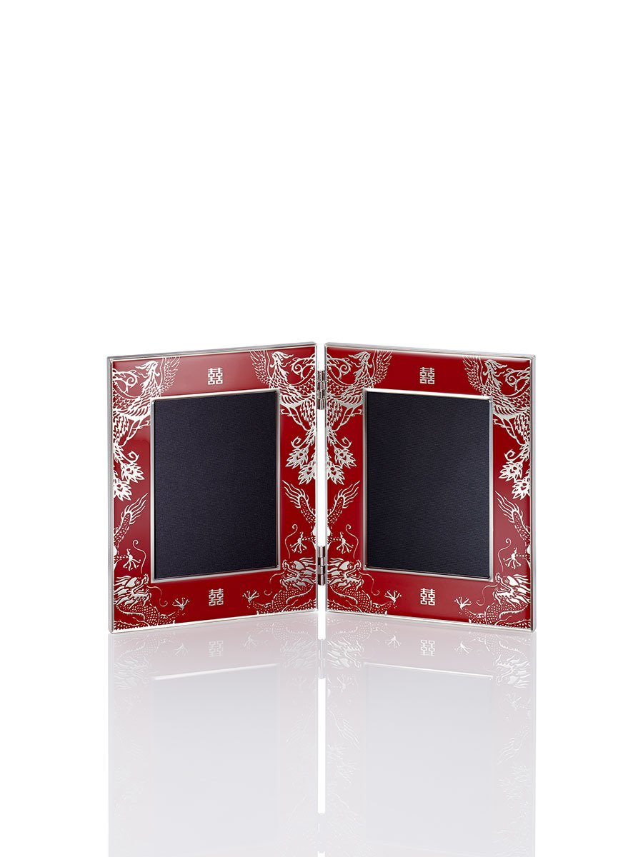 5R Enamel Double Wedding Photo Frame