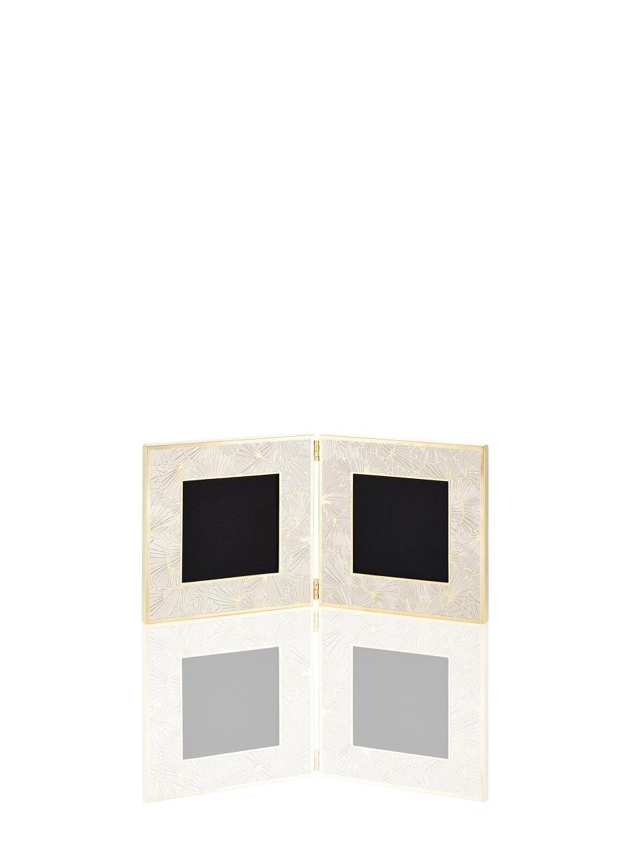 Double Square Ginkgo Filgree Photo Frame