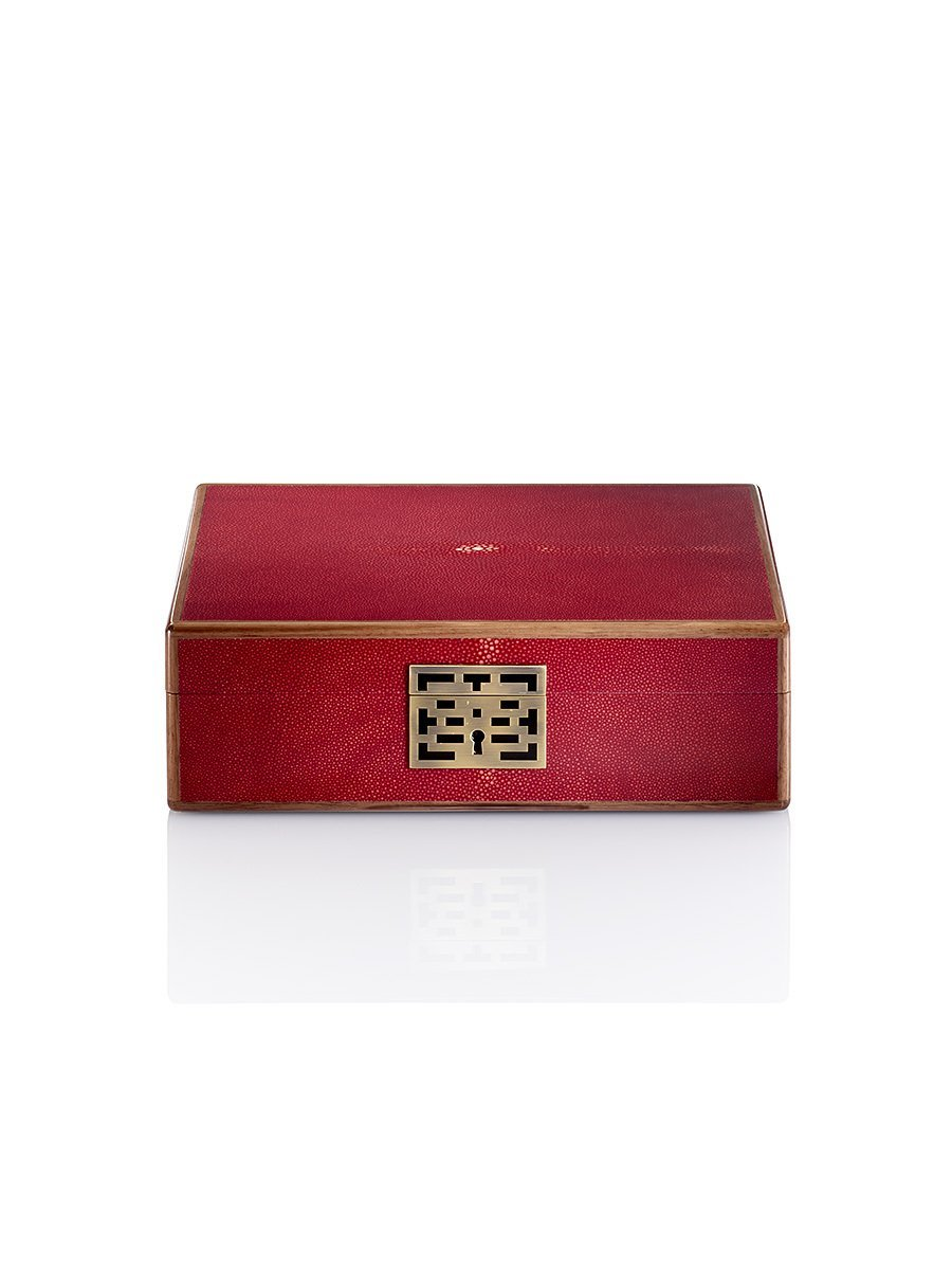 Lacquer Shagreen Stingray Watch Box