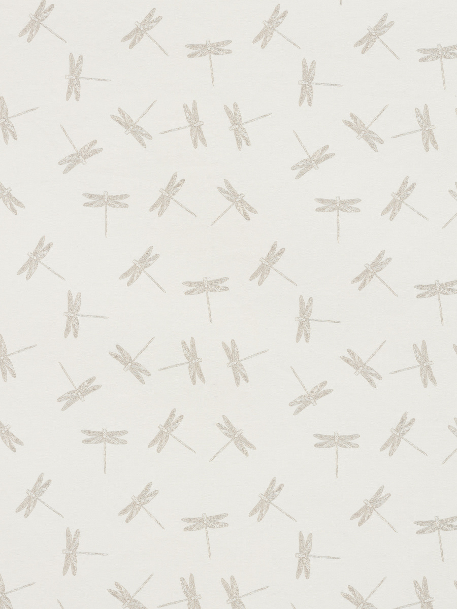 Dragonfly Print Band Collar Kids Shirt