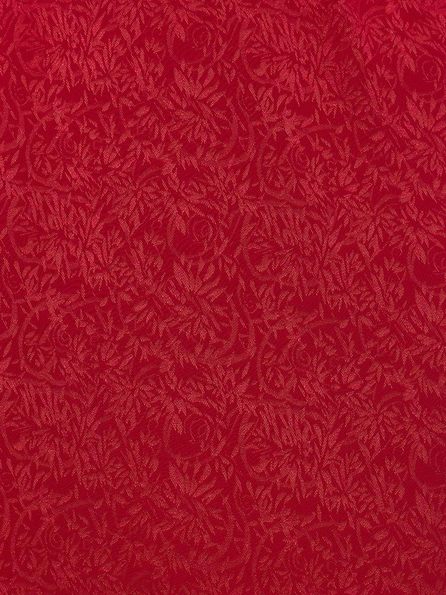 Floral Jacquard Stretch Silk Mini Qipao