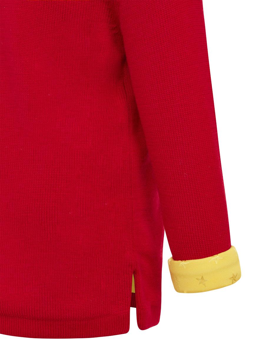 Kids Wool Sweater with Star Jacquard Silk Lining