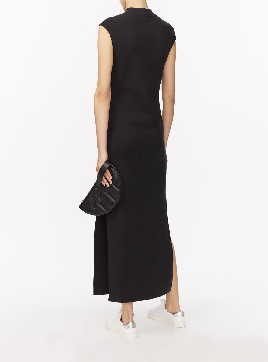 Silk-Cotton Jersey Knit Long Qipao