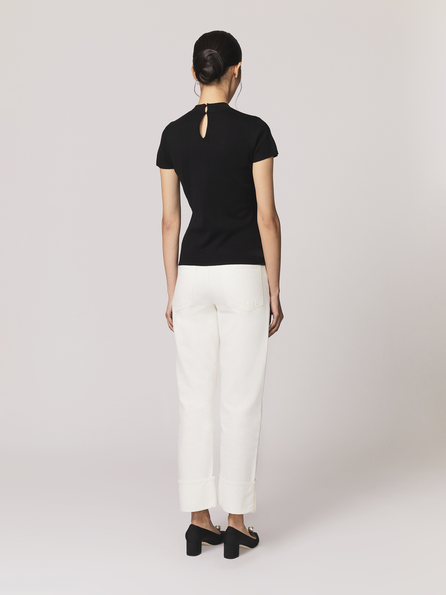 Silk-cotton Knit Qipao Top