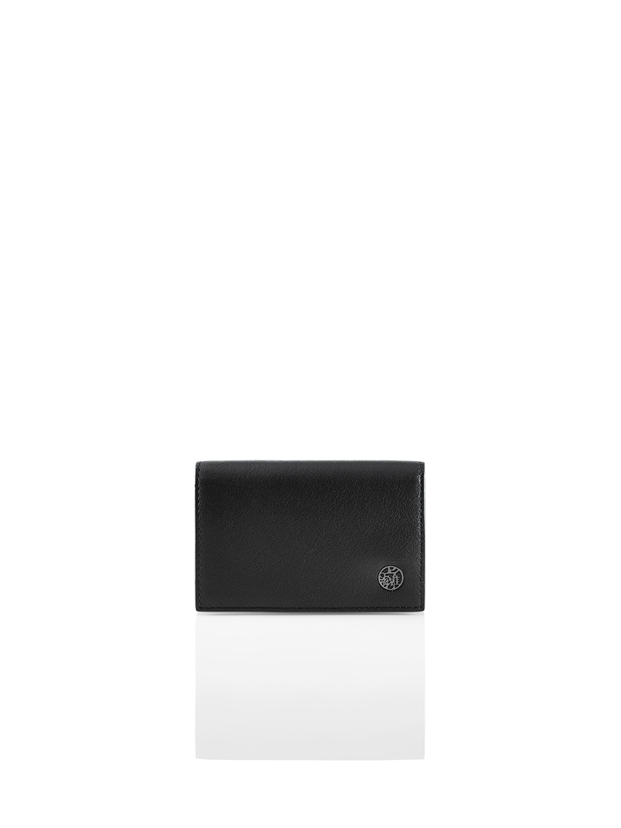 Leather Card Holder with Flap