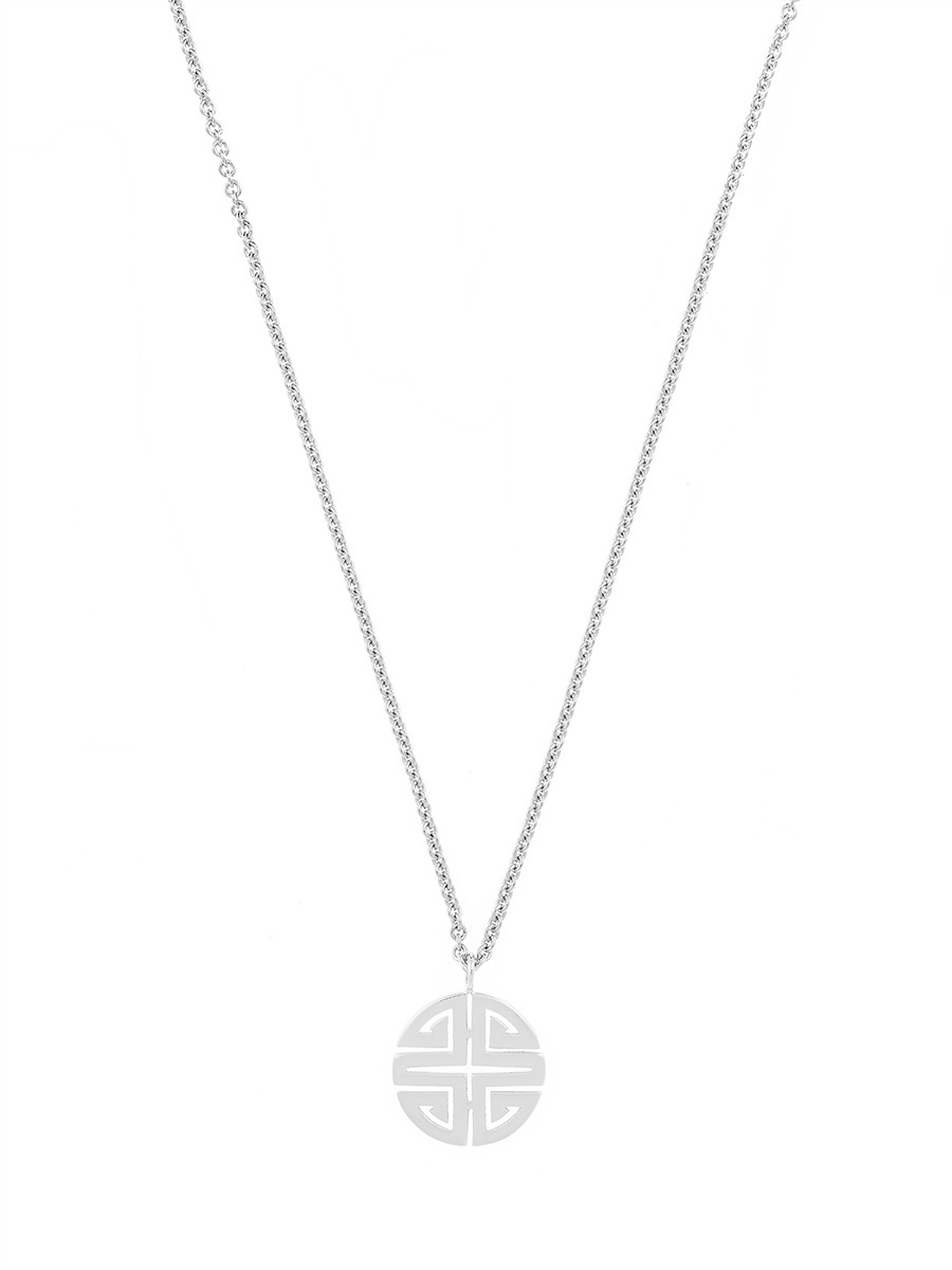 Shou Pendant Sterling Silver Necklace
