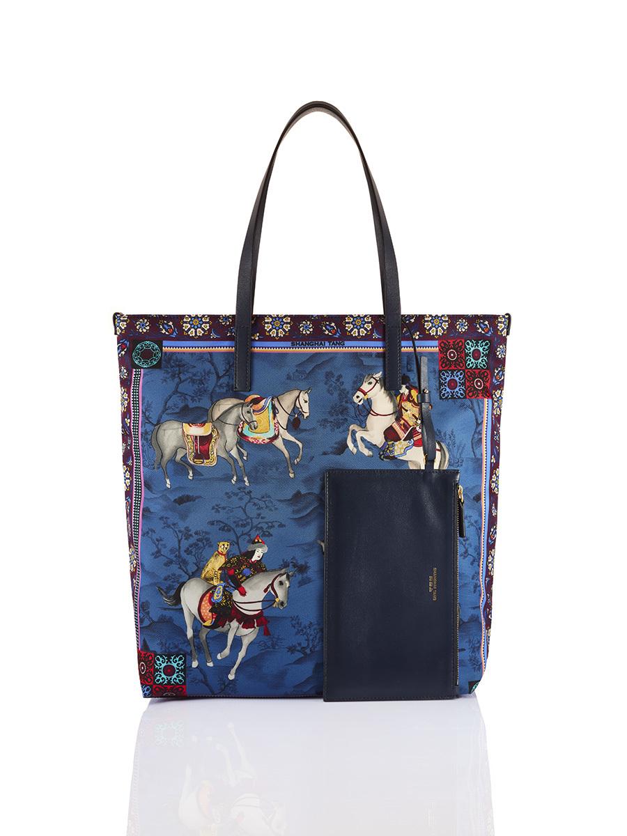 Mongolian Horsemen Print Shopper Tote
