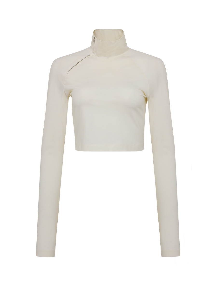 Yuni Ahn for Shanghai Tang Jersey Zip Qipao Crop Top