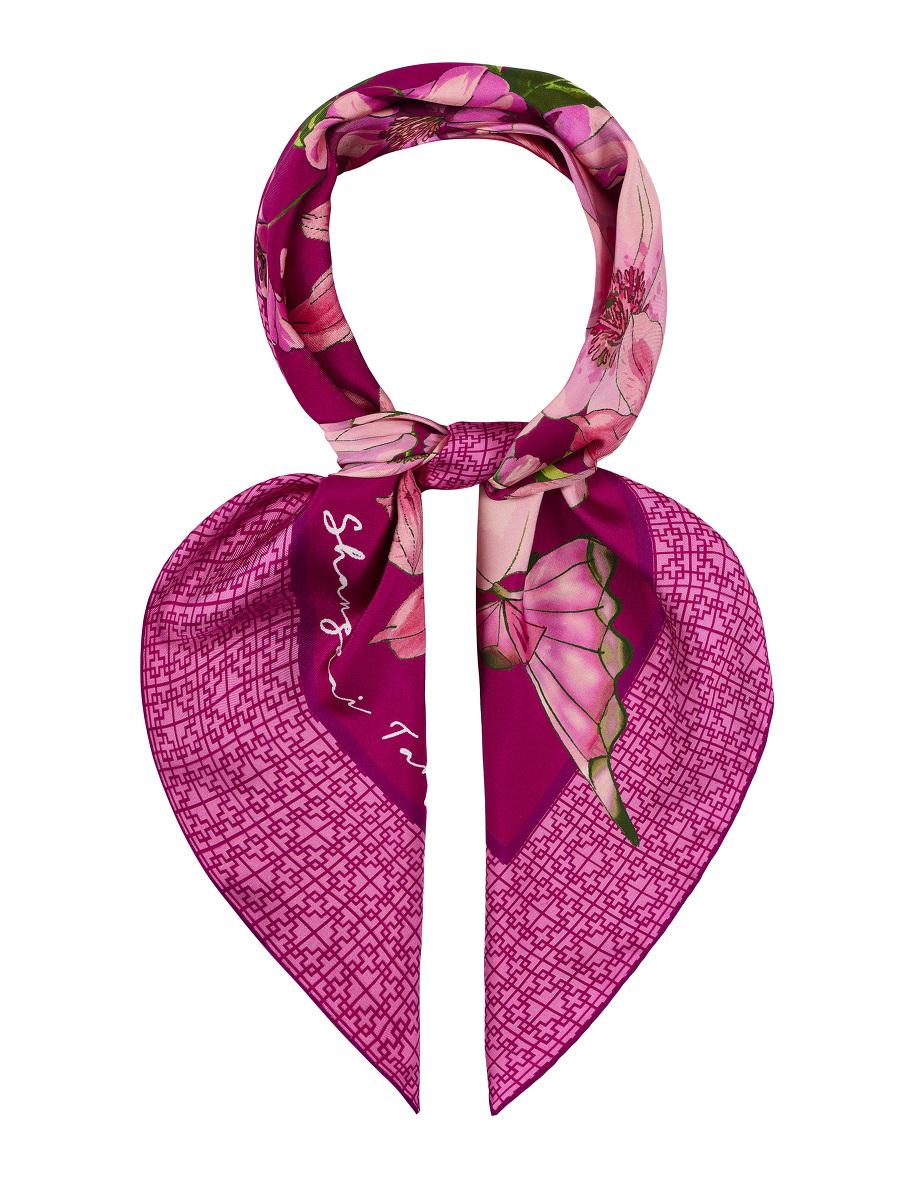 Butterfly Floral Silk Twill Foulard 90
