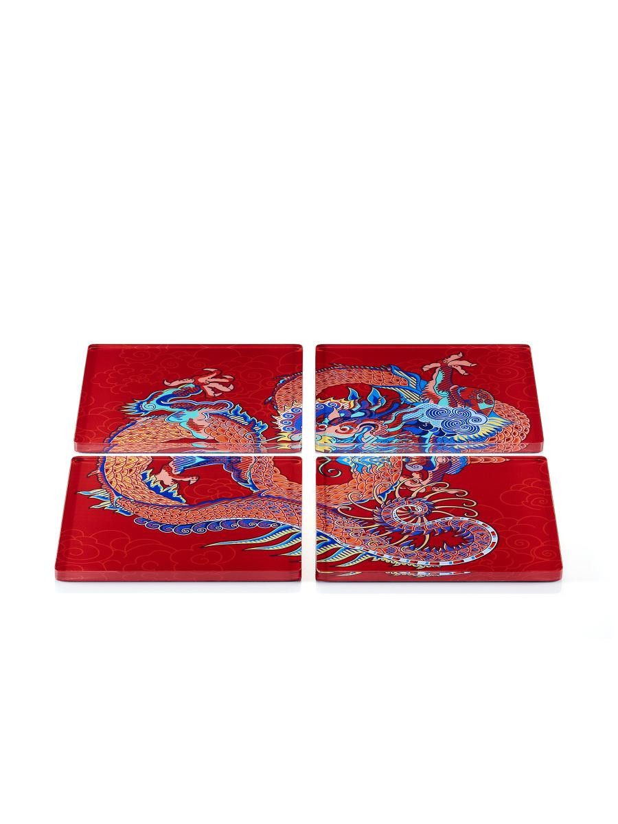 Vivid Dragon Acrylic Coaster Set of 4