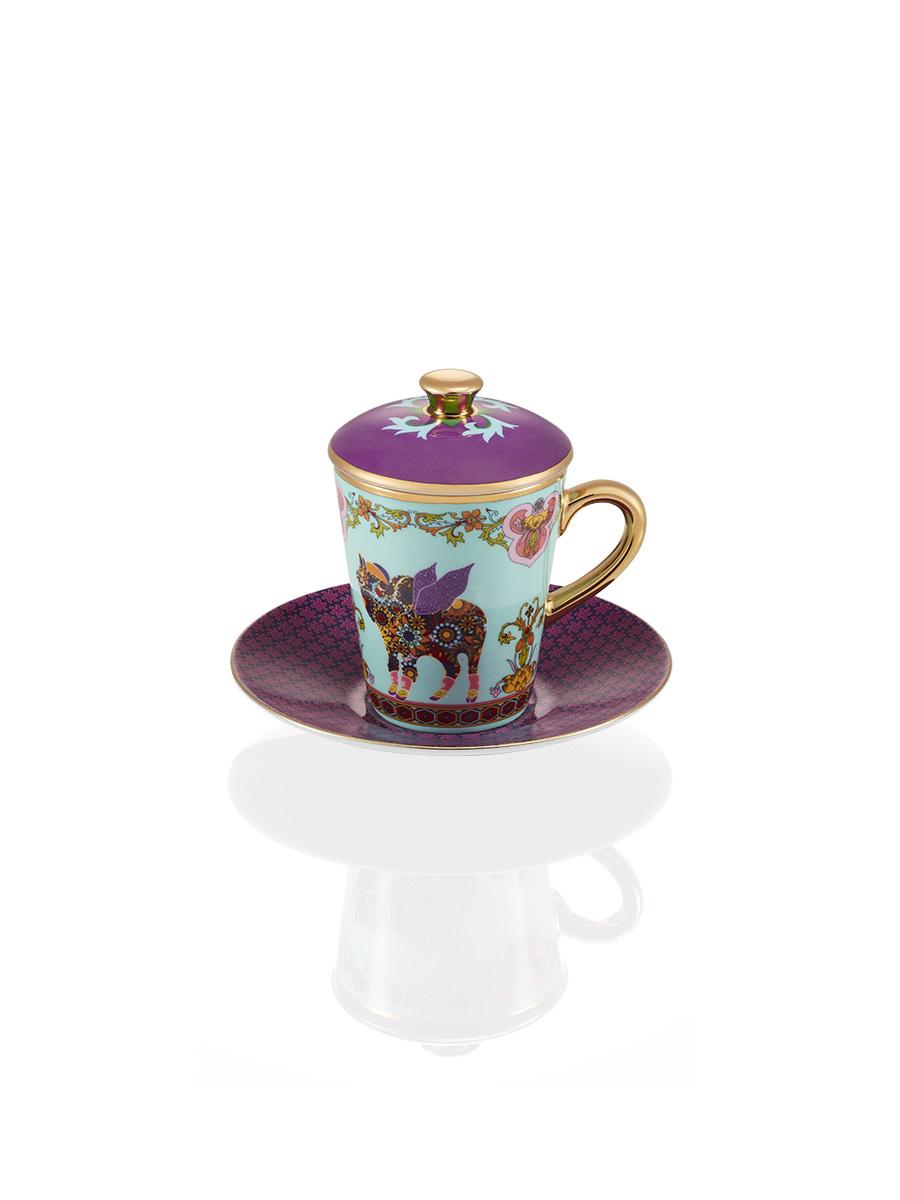 Pig Fine Bone China Espresso Cup & Saucer Set