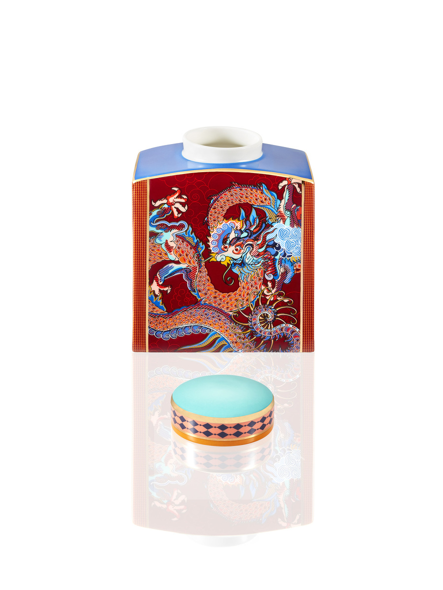 Vivid Dragon Fine Bone China Jar – Small