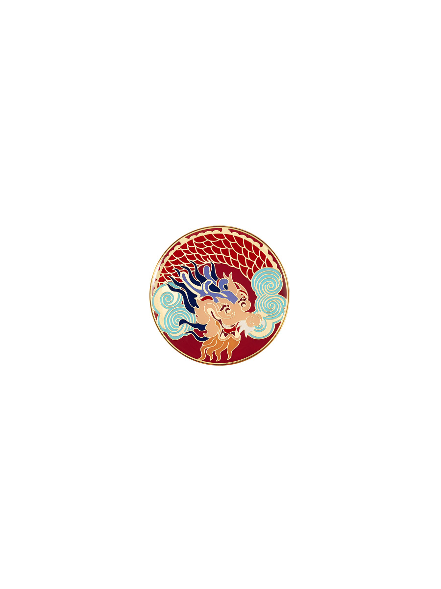 Vivid Dragon Round Enamel Box – Small