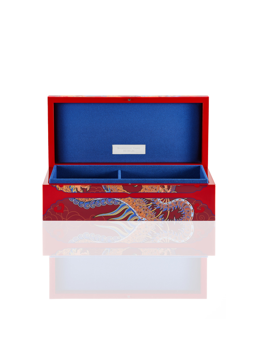 Vivid Dragon Lacquer Jewellery Box – Medium