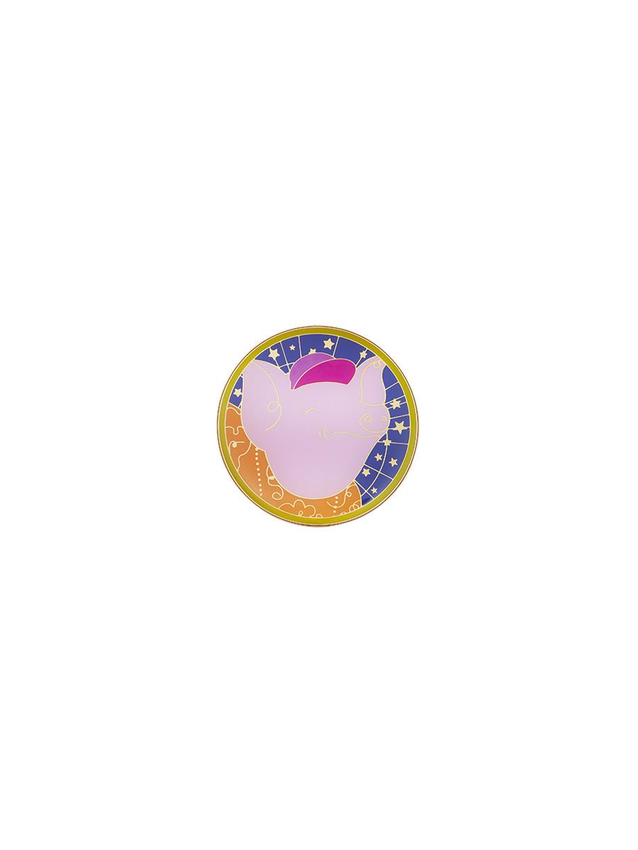 Pig Enamel Round Trinket Box S