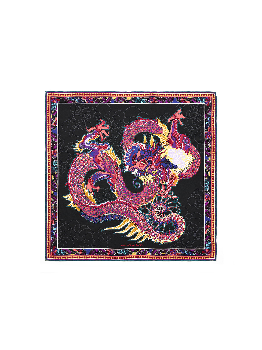 Dragon Pocket Square