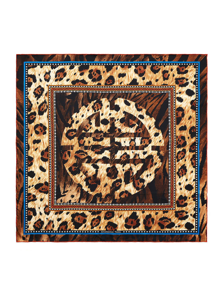 Shou Animalier Silk Twill Foulard