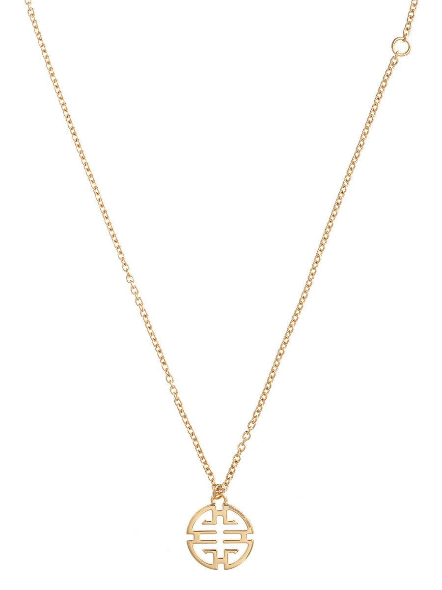 Gold Shou Pendant