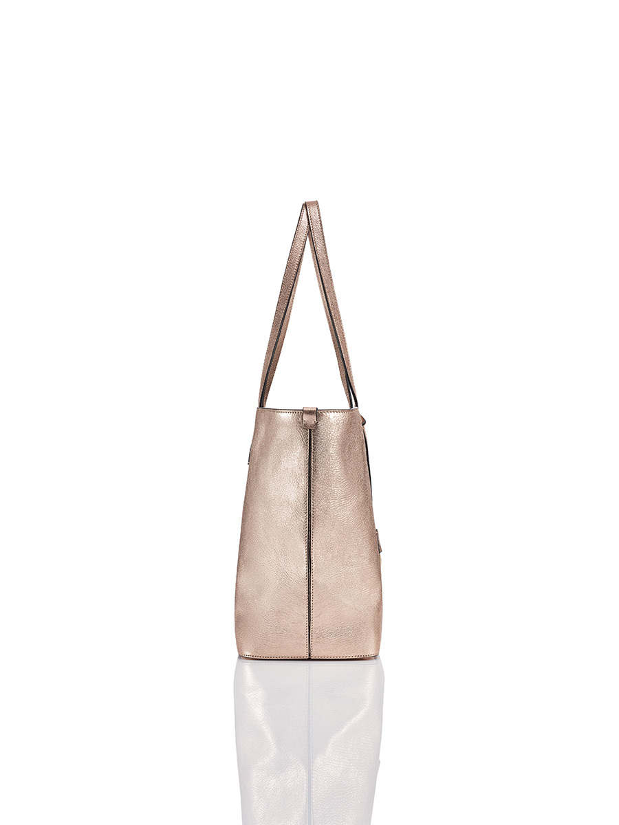 East-West Tote Bag With Printed Lining