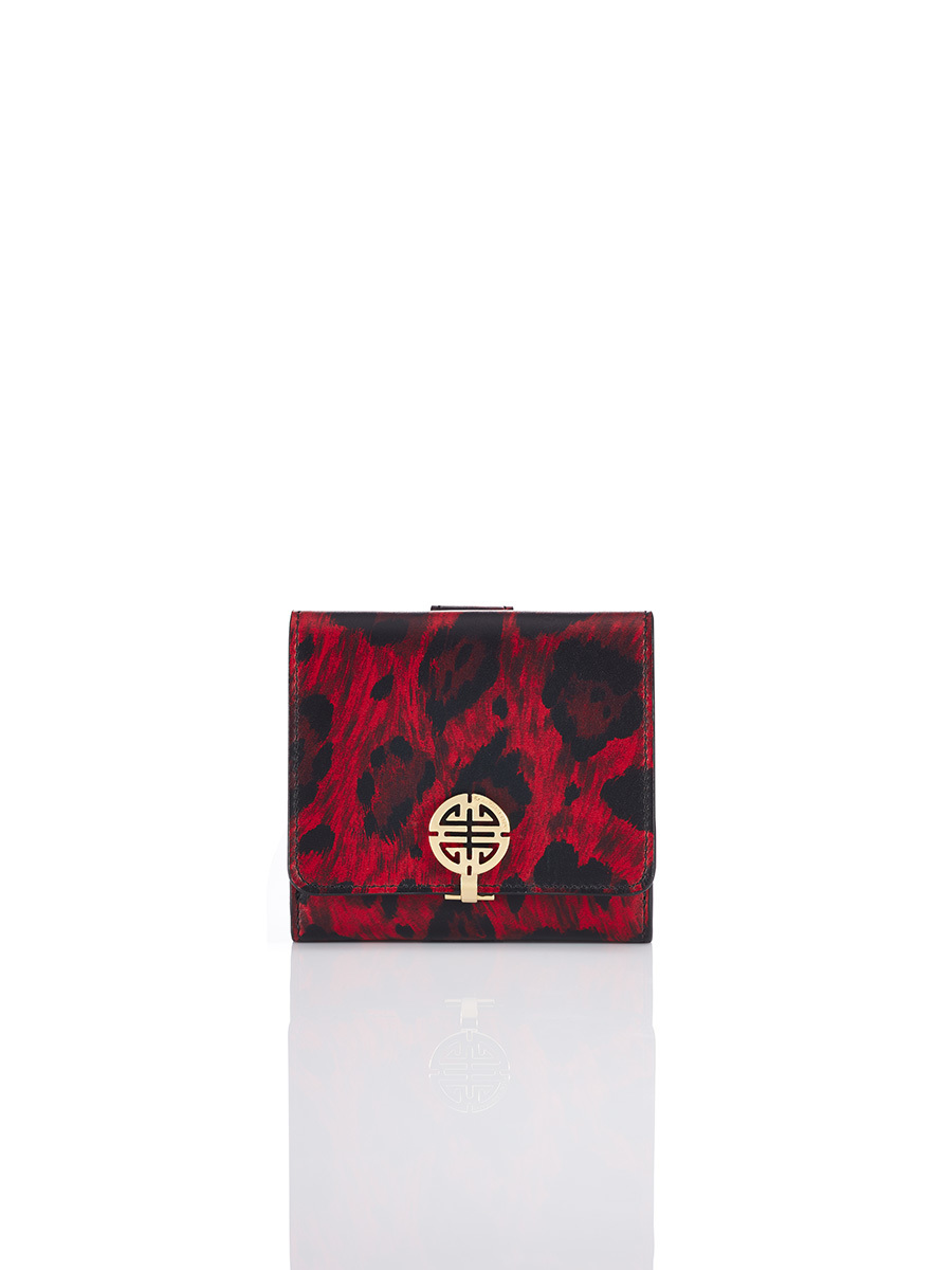 Printed Shou Compact Wallet