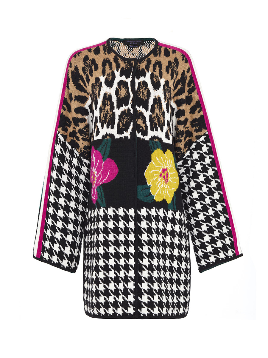 Patchwork Knitted Coat