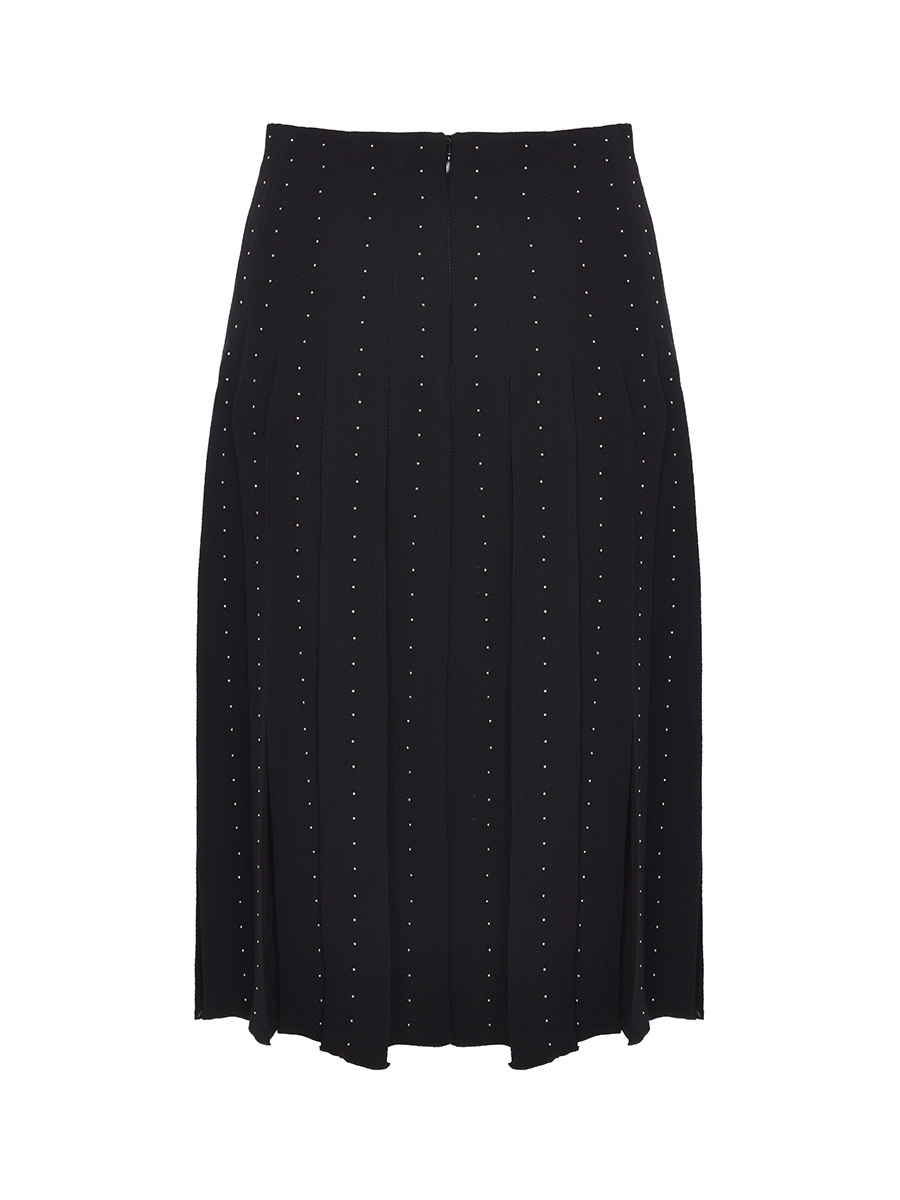 Pleated Skirt With Studs