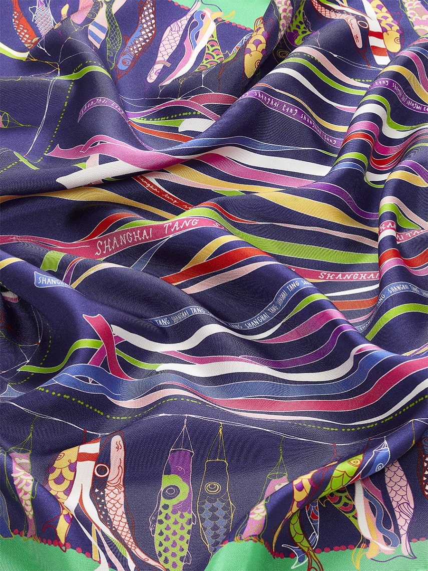 Promise Print Silk Foulard