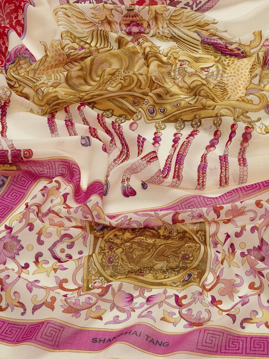 Crown Print Wool Shawl