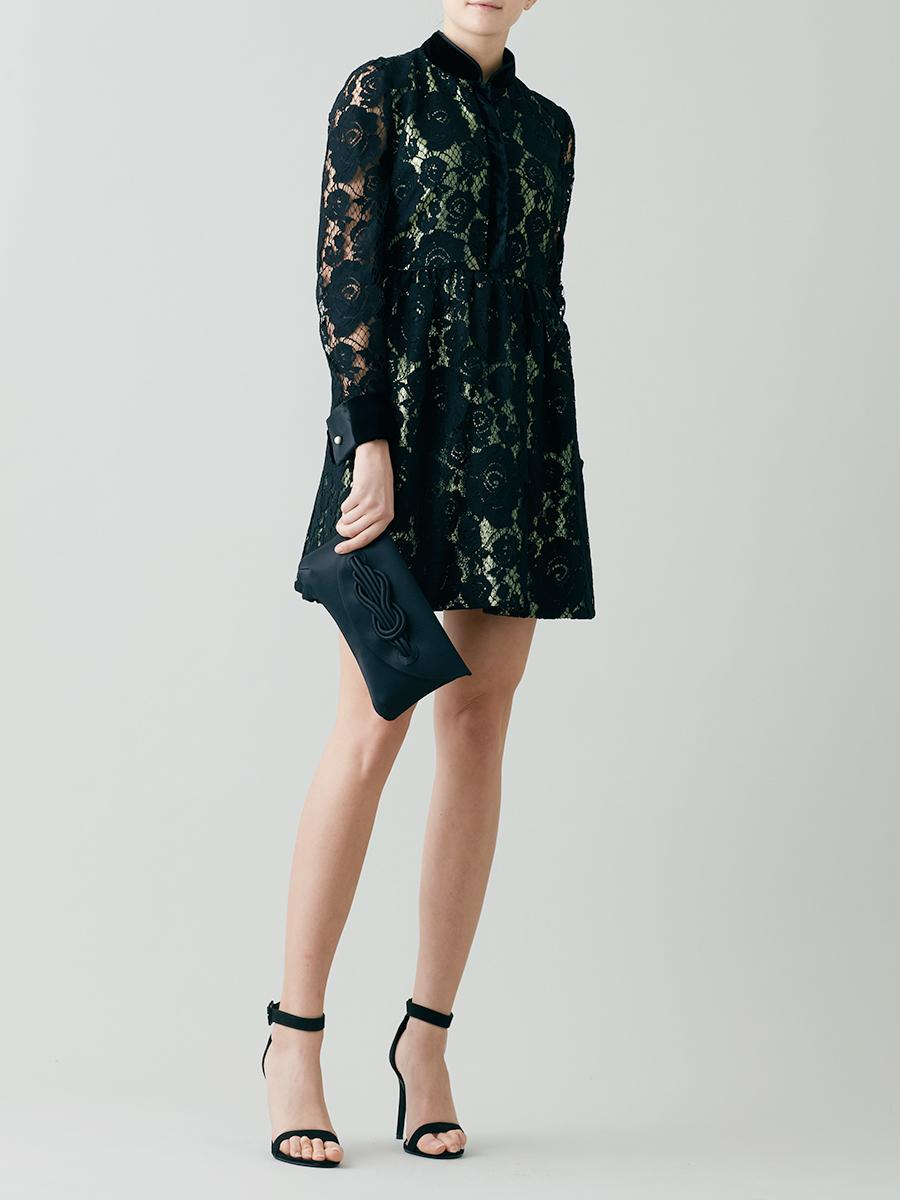 Lace And Lurex Short Dress