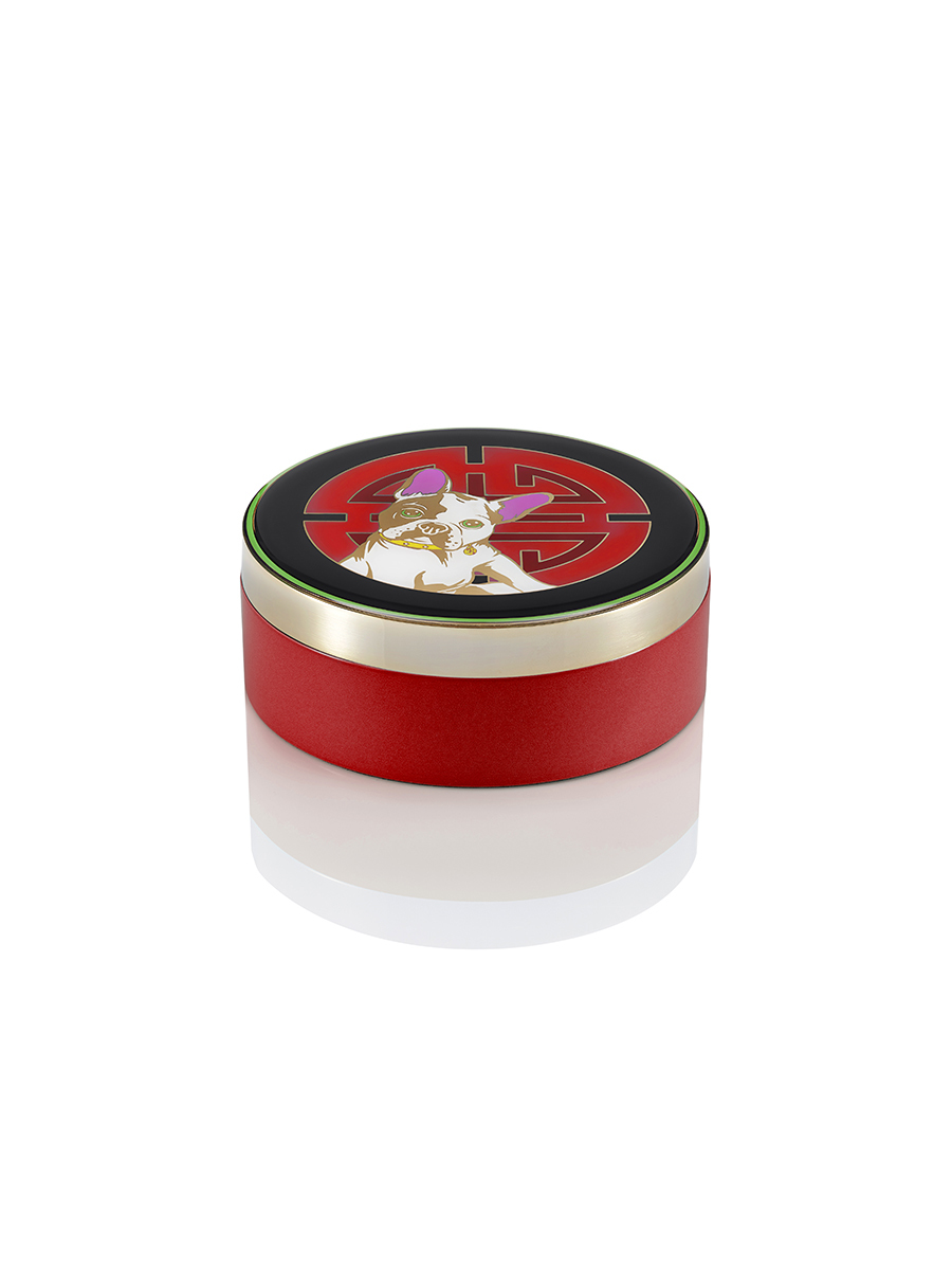 Laki Shou Enamel Round Box Medium