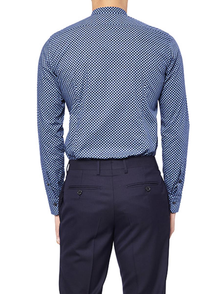 Shou Print Band Collar Shirt