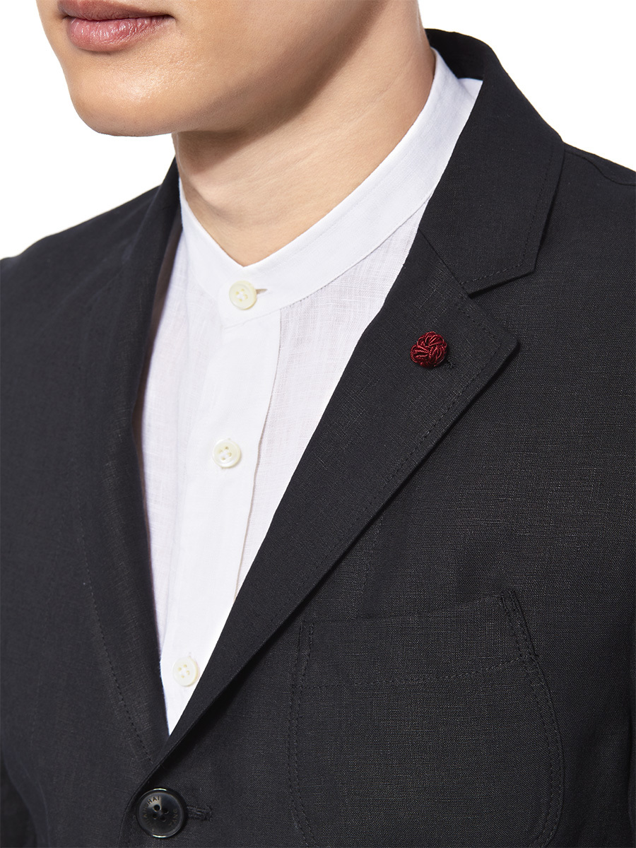 3-Button Lightweight Linen Jacket