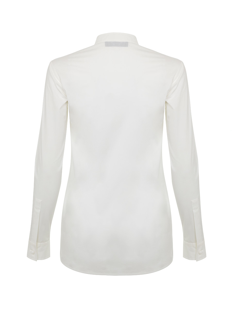 Shirt with Contrasting Bib