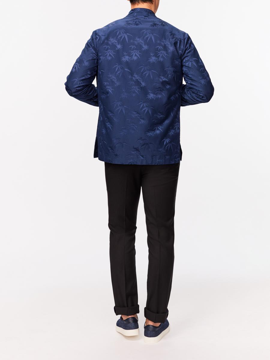 Bamboo Jacquard Tang Shirt Jacket