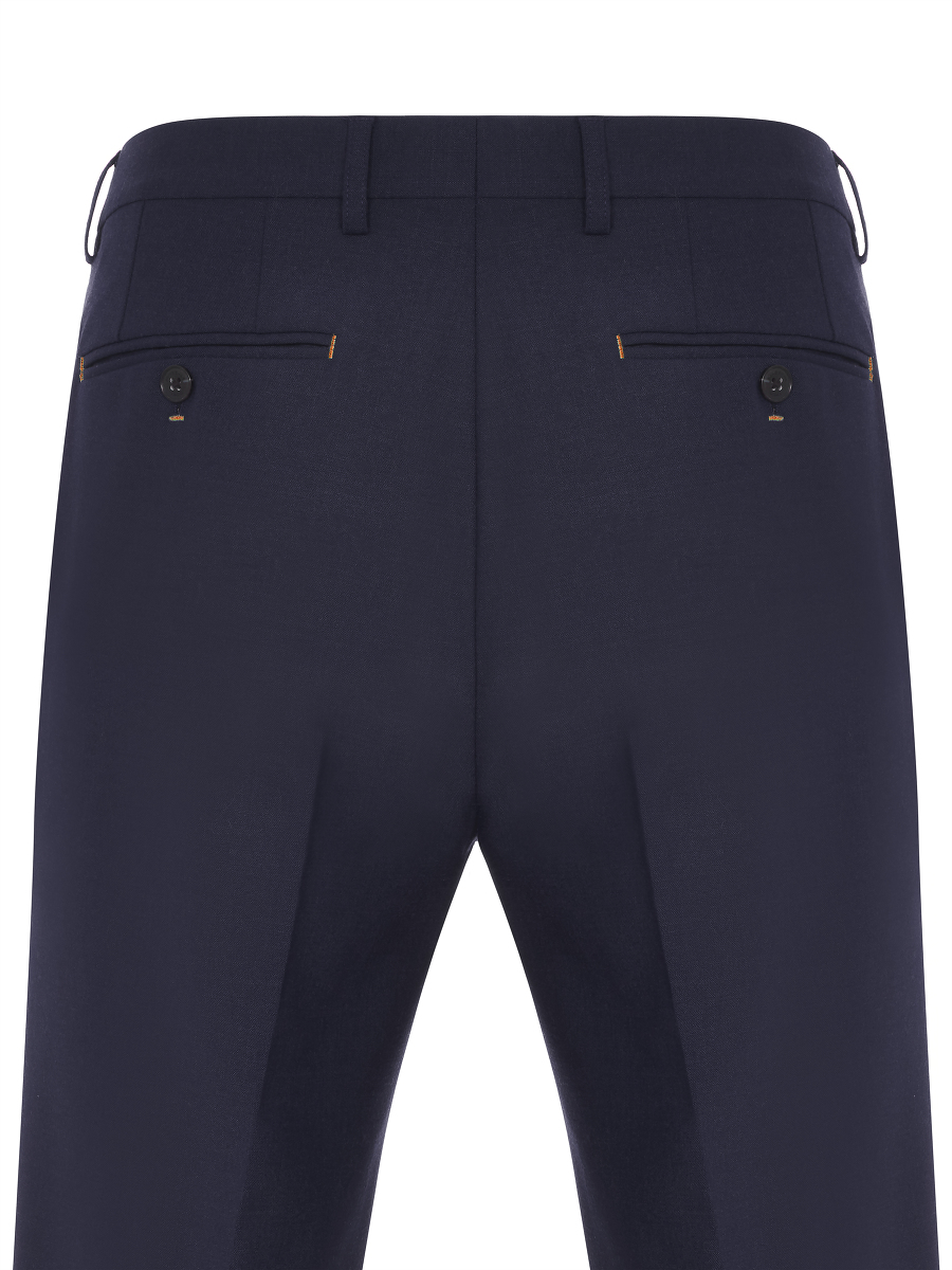 Contrast Stitching Tailored Trousers
