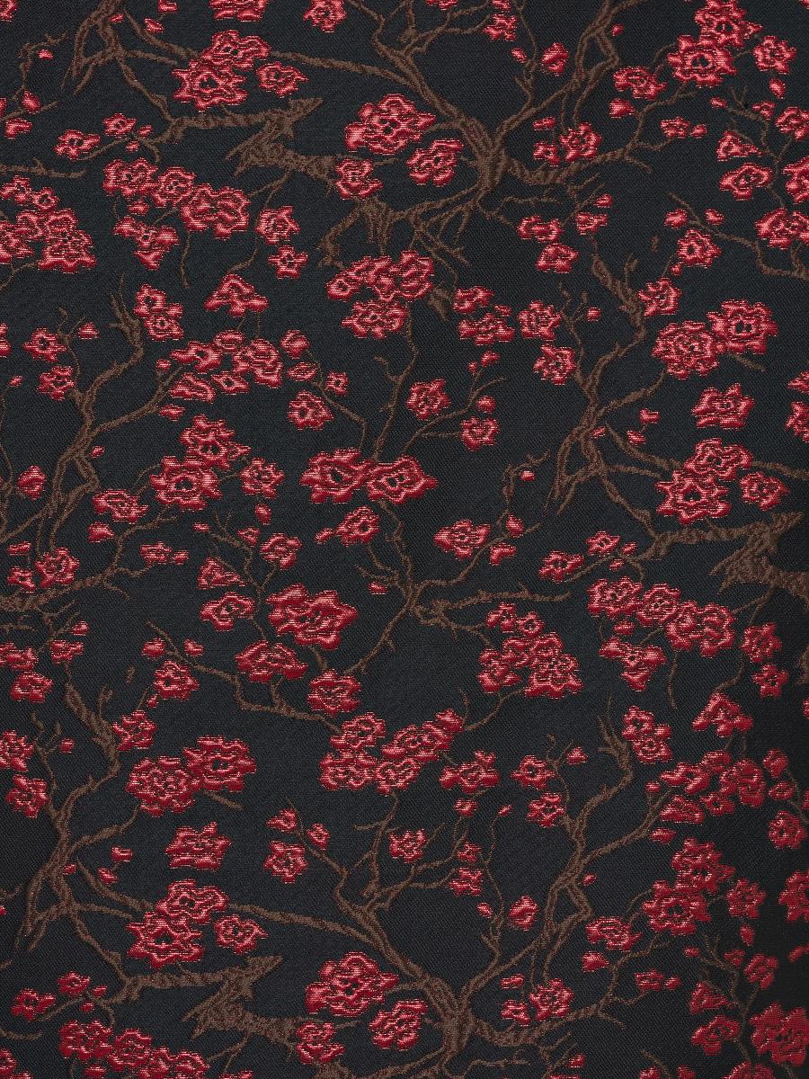 Plum Blossom Jacquard Keyhole Mini Qipao