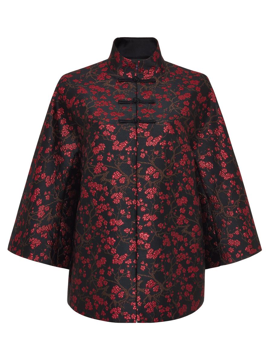 Plum Blossom Jacquard Chinese Jacket