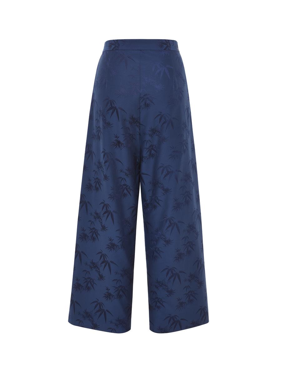 Bamboo Jacquard Wrap Front Kung Fu Pants