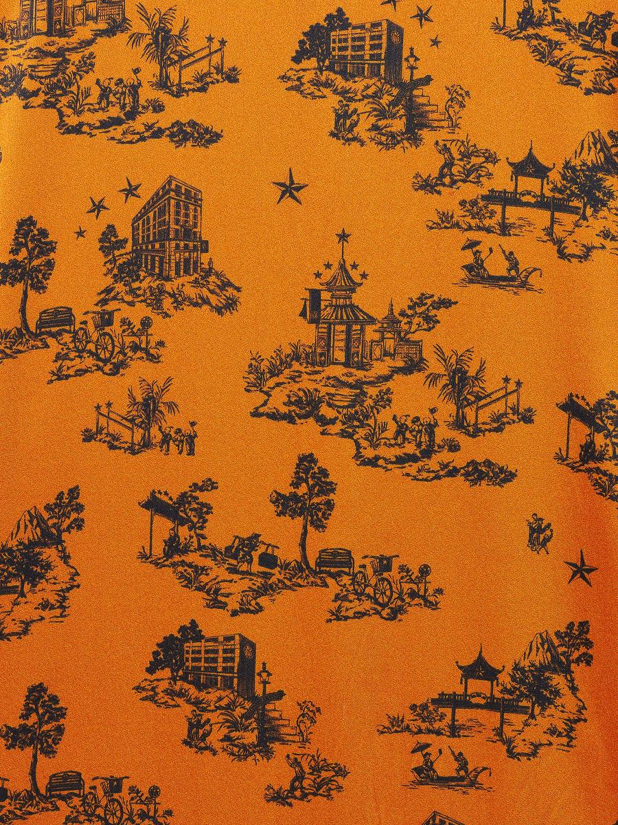 Wool-cashmere Kimono Cardigan with Chinoiserie Silk Lining