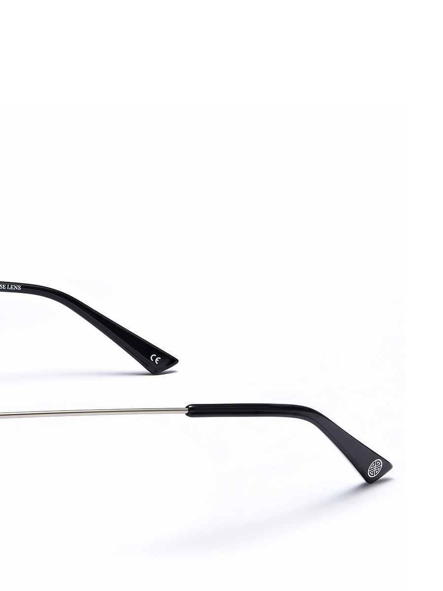 'Spotlight' Metallic Trim Round Sunglasses