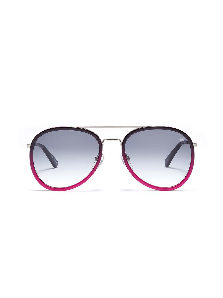 'The Pilot' Acetate Layered Aviator Sunglasses