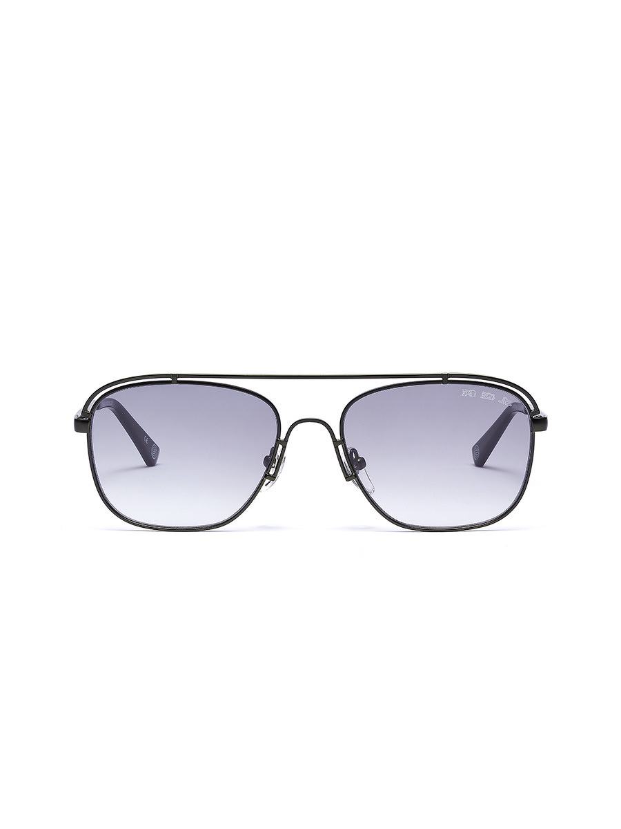 'The Agent' Lasered Top Bar Square Sunglasses