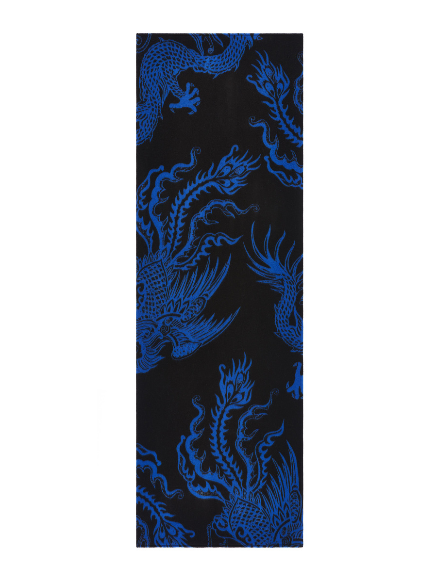 Dragon and Phoenix Brushed Wool Scarf