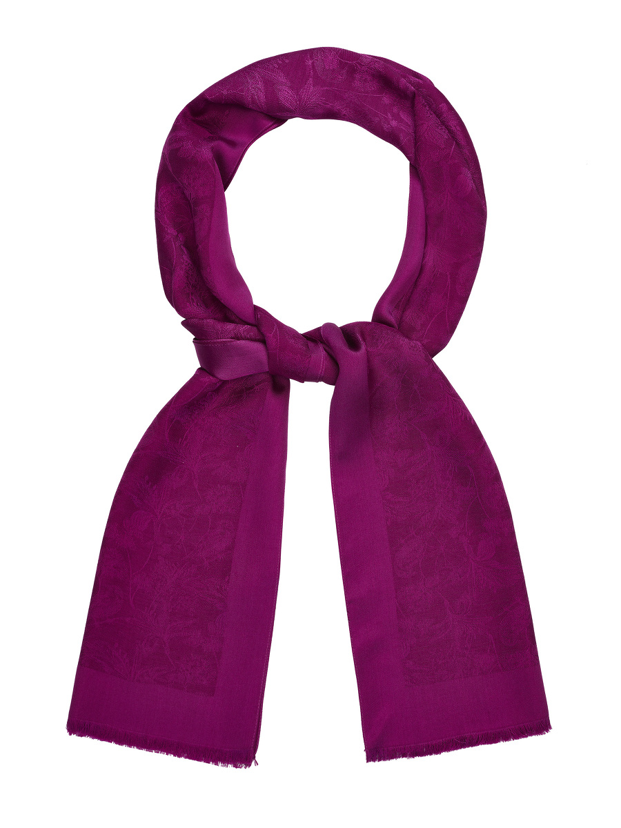 Bird Jacquard Silk-wool Scarf