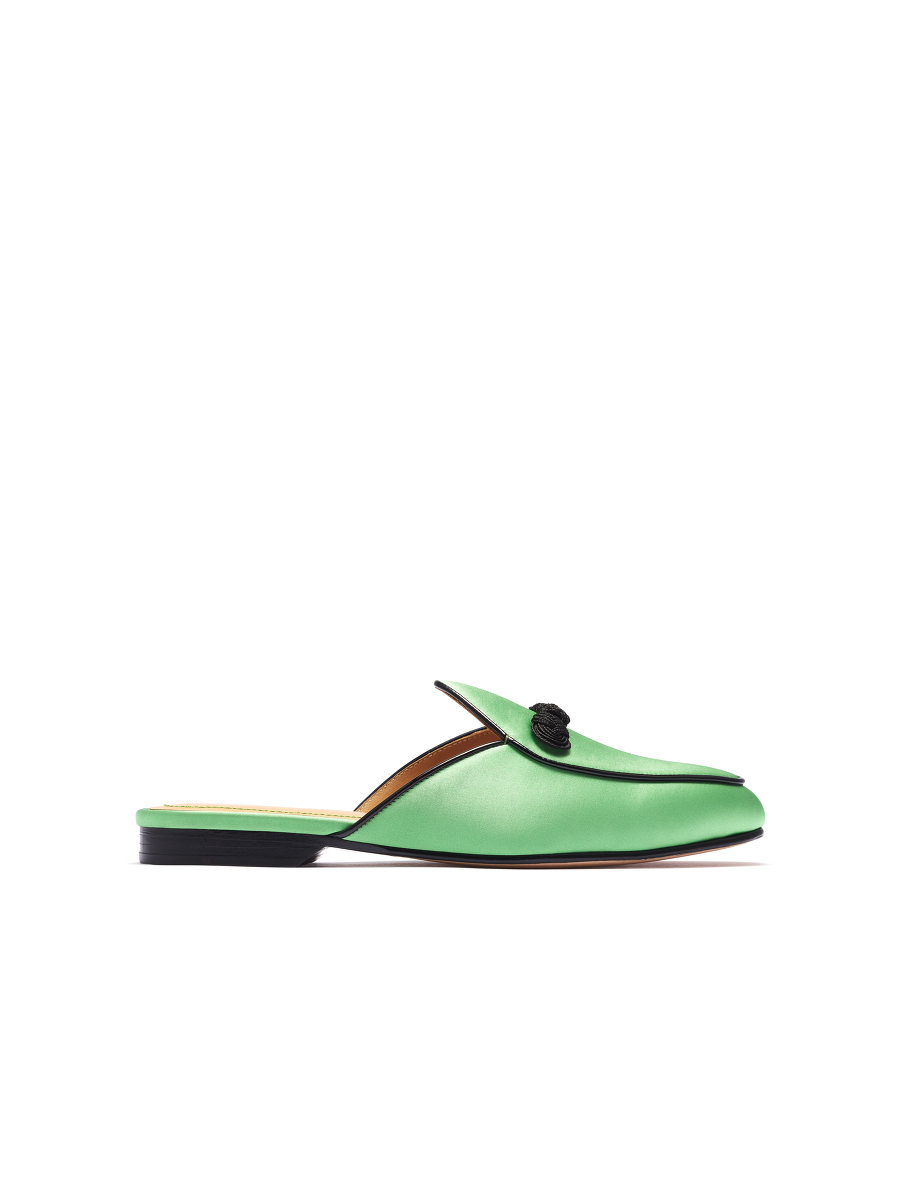 Bing Xu for Shanghai Tang 'In the Mood for Love' Satin Loafer Mules