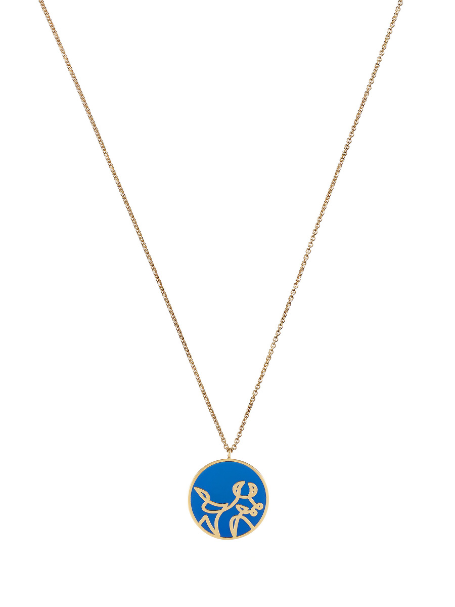Zodiac Enamel Pendant Necklace – Ox