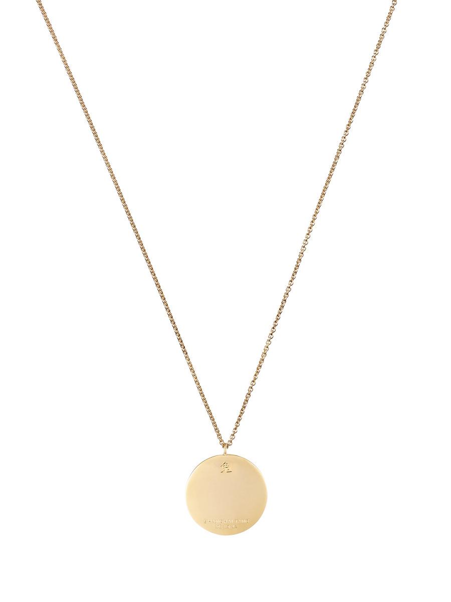 Zodiac Enamel Pendant Necklace – Rabbit