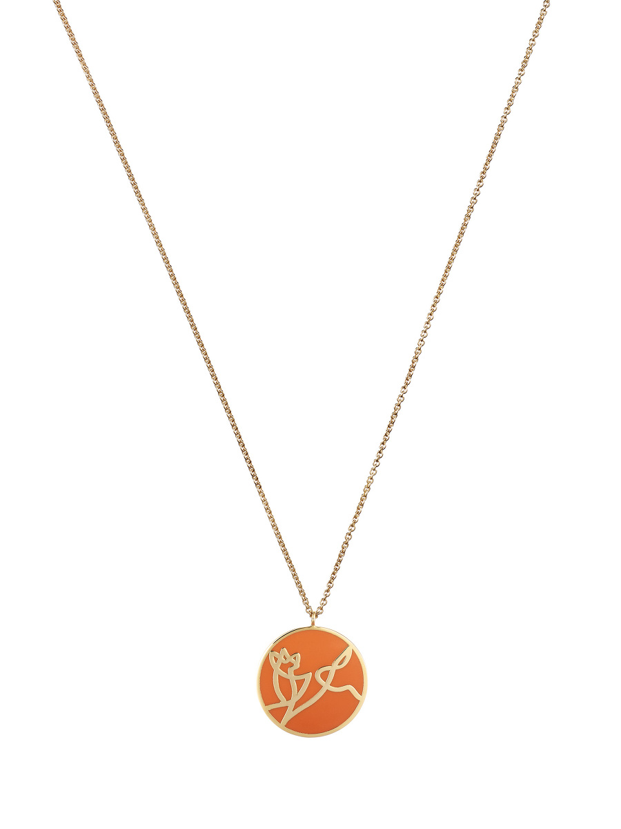Zodiac Enamel Pendant Necklace – Dog
