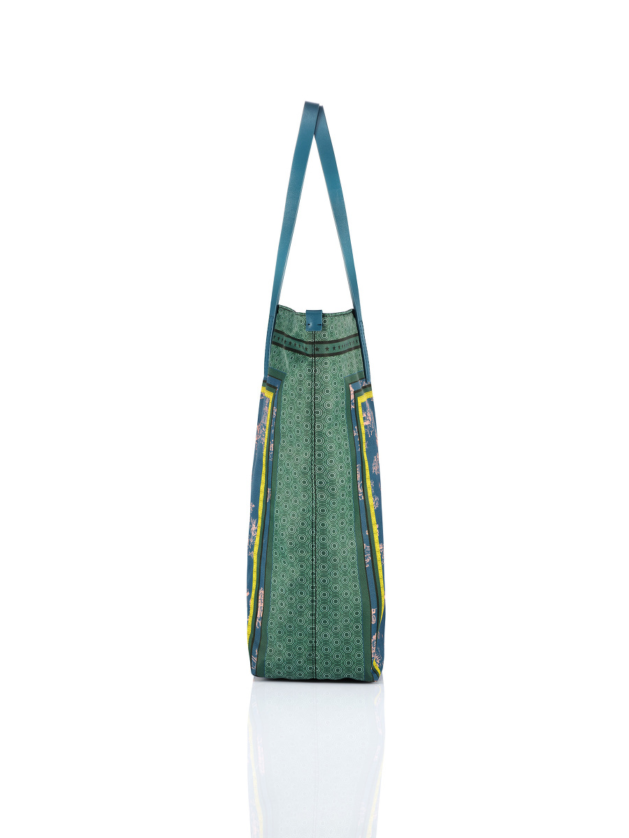 Chinoiserie Print Shopper Tote