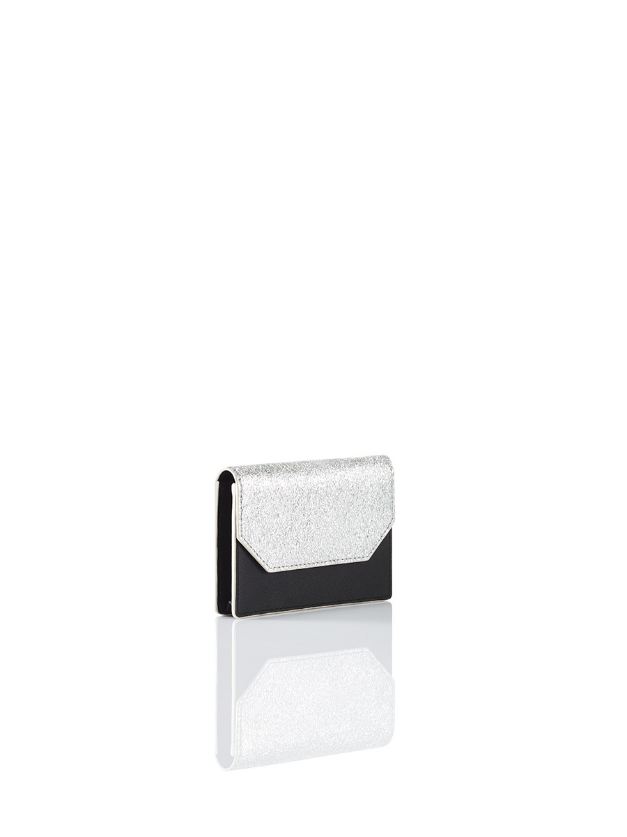 Silver Jubilee Metallic Leather Card Holder with Flap